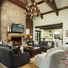 Rustic Living Room by Giana Allen Design LLC
