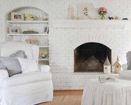 cottage fireplace houzz