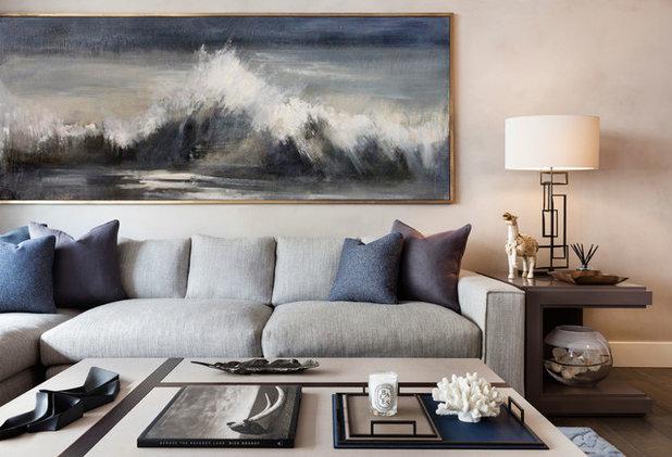 Beach Style Living Room by Light on White Design Studio