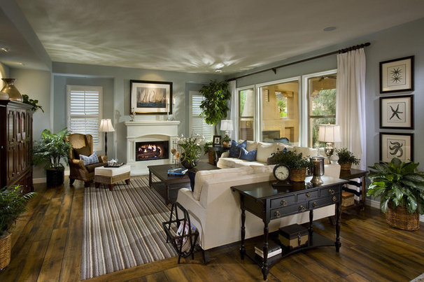 Traditional Family Room by Studio V Interior Design