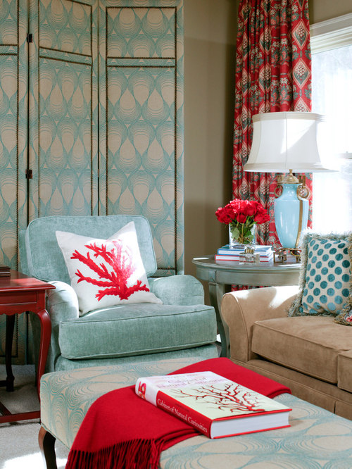 Red Living Room Decorating Ideas | Houzz