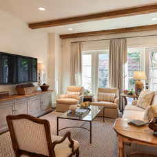 Traditional Living Room by Connie Anderson Photography