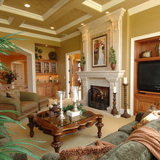 Mediterranean Living Room by Barenz Builders