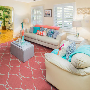 Living room - beach style living room idea in Tampa