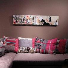 Mediterranean Living Room by Melissa Koch Fine Art Studio