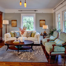 Craftsman Living Room by Kathryn Tegreene Interior Design