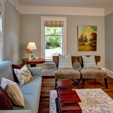 Traditional Living Room by Kathryn Tegreene Interior Design