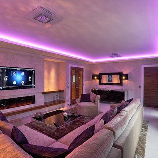 Esempio di un soggiorno minimalista
