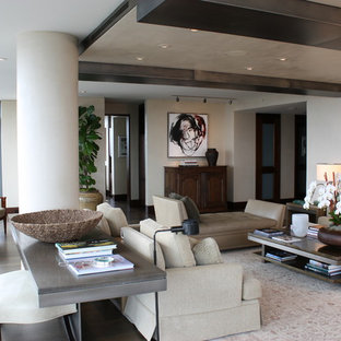 Inspiration for a large contemporary living room remodel in Seattle with no tv