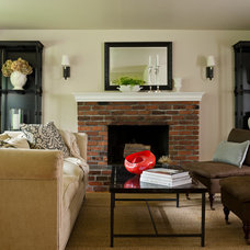 Traditional Living Room by Marianne Simon Design