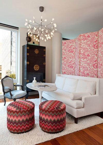 Transitional Living Room by Hyde Evans Design