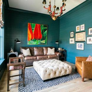 glamorous turquoise beige living room | 75 Beautiful Beach Style Turquoise Living Room Pictures ...