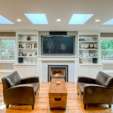 traditional living room by Podesta Construction