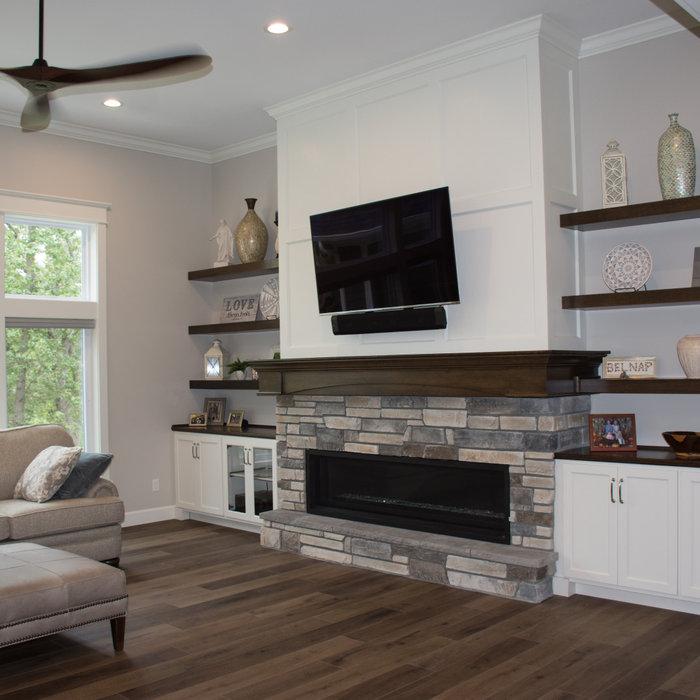 Belnap modern fireplace,