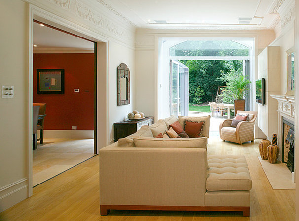 Contemporary Family Room by Helene Dabrowski Interiors