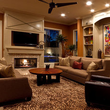 Contemporary Living Room by Iron Gate Build and Design Inc.