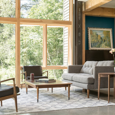 Inspiration for a transitional formal living room remodel in Portland Maine