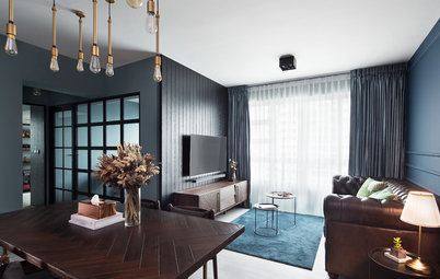 Houzz Tour: A Newlyweds' Home Goes Dark and Gilded