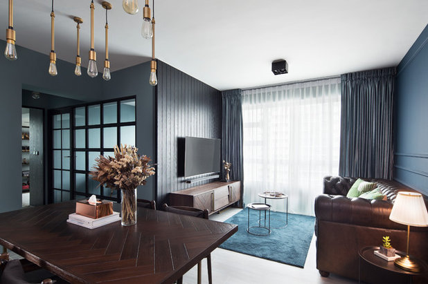 Contemporary Family  Room by The Scientist Pte Ltd