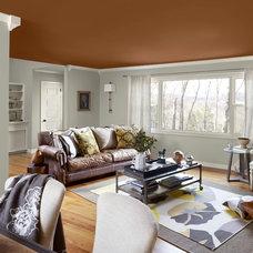Contemporary Living Room by Benjamin Moore