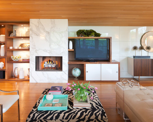 White Marble Fireplace Houzz