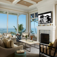 Beach Style Living Room by Kukk Architecture & Design P.A.