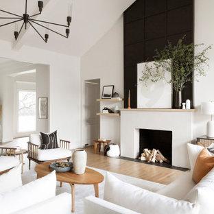 Modernes Wohnzimmer in Dallas