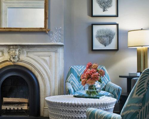 Blue Gray Living Room  Houzz