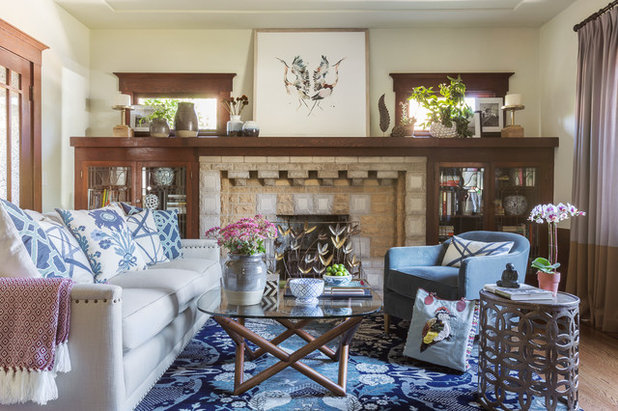 Traditional Living Room by Leslie Harris-Keane Interior Design