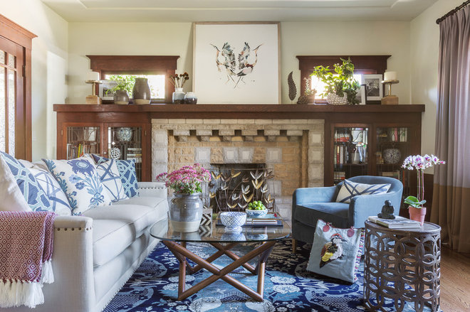 Traditional Family Room by Leslie Harris-Keane Interior Design