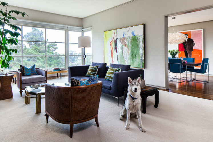 Contemporary Living Room by Christopher Stark Photography