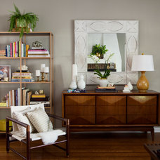 Transitional Living Room by Erin King Interiors