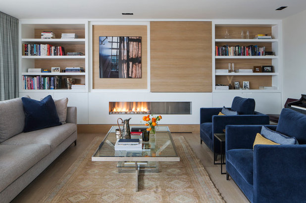 Contemporary Living Room by L Works Ltd