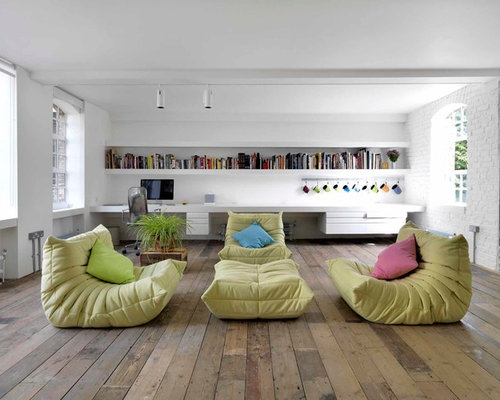 Design Ideas For An Industrial Open Plan Living Room In London With A  Reading Nook, Part 77