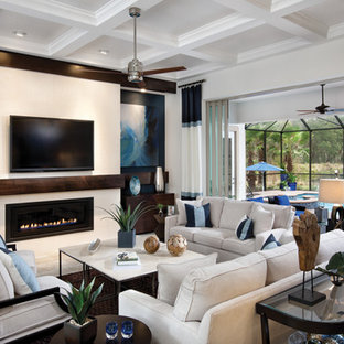Inspiration for an eclectic living room remodel in Tampa