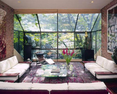 Asian Living Room by Bernard Marson, Architect