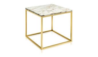 BERNIX | Marble coffee table Cube - Calacatta Gold