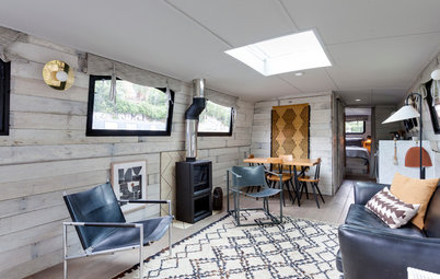 My Houzz: Stylish Small Space Living on a Barge Awash with Smart Ideas