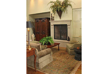 traditional living room by BERYN HAMMIL DESIGNS - ASID