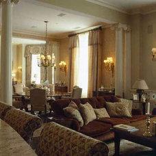 Traditional Living Room by Nancy Serafini Interior Design