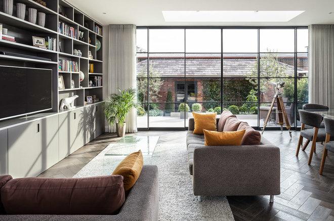 Modern Living Room by EMR Home Design