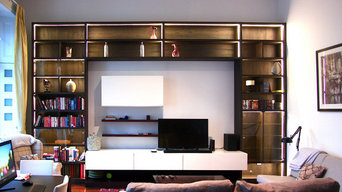 Bespoke Media Unit in Brown colours