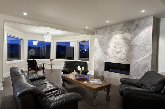 Contemporary Living Room by Best Builders ltd