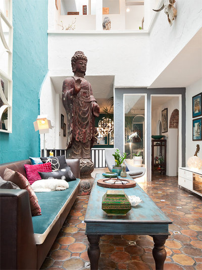Eclectic Living Room by Busybee Design
