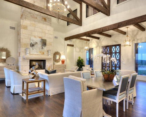 Austin stone fireplace houzz for W living room austin