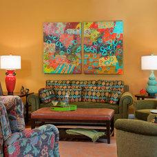 Eclectic Living Room by Carol Freedman Design