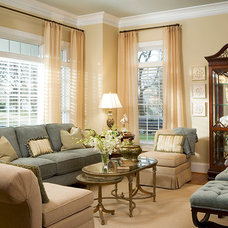 Traditional Living Room by Suzanne Price Design, LLC