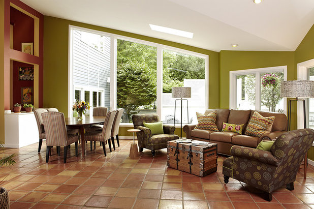 Transitional Living Room by Designing Solutions