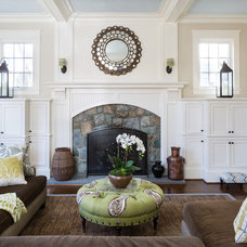 Traditional Family Room by Homegrown Decor, LLC
