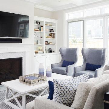 #bethesdaglamfam - Blue & White Living Room